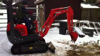 Jims New Excavator #12 Destroying Chair #2 Using The Excavator To Crush Chairs.