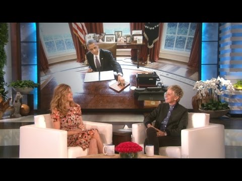 Connie Britton on Meeting the President - YouTube