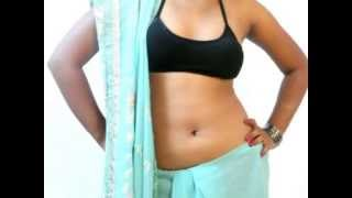 Hot Low Waist   How To Wear Saree Sidha Pallu   Different Styles Of Pallu Thumbnail