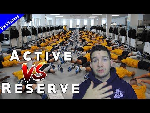 Active Duty VS Reserve - NAVY 2018