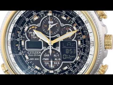 Mens Watches | Citizen JY8034-58E Navihawk A-T Eco-Drive Perpetual Chrono Watch
