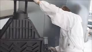Обзор процеса покраски чугунных каминных топок Kratki