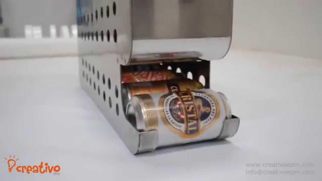 Dispensador de bebidas enlatadas beverage dispenser for Dispensador de latas para frigorifico