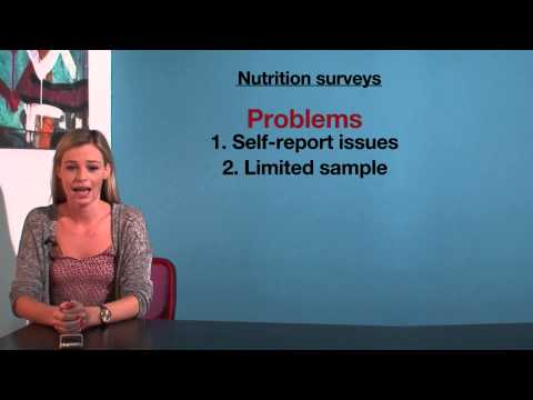 VCE HHD - Nutrition surveys
