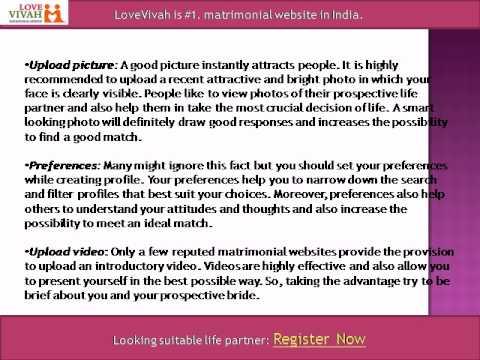 How to Create Profile on Matrimonial Websites