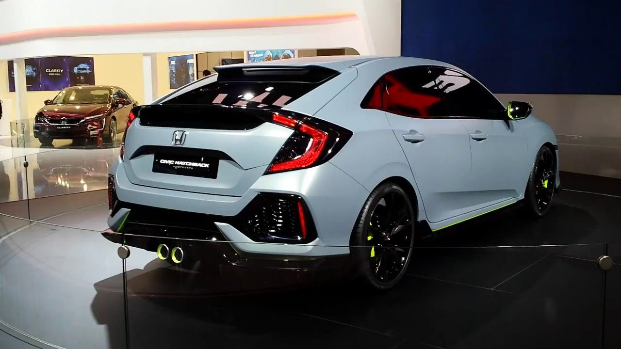 new honda civic hatchback concept salon de l 39 auto geneve 2016 youtube. Black Bedroom Furniture Sets. Home Design Ideas