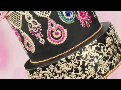 TUTORIAL: How to bedazzle your cake using Edible lace & Jewels