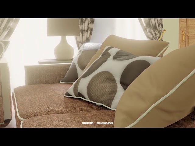 3D Sitting Room Visualization animation by Atlantis Creative Studios