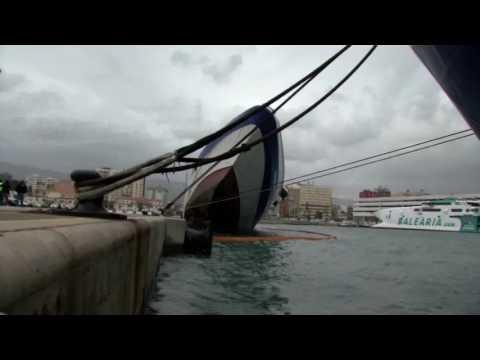 El Panagia Parou se hunde en el Puerto de Algeciras