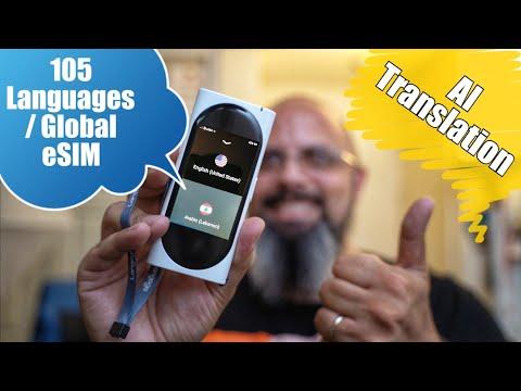 Langogo Genesis Portable AI Translator Global ESIM/HotSpot Up To Instant 105 Languages Translation