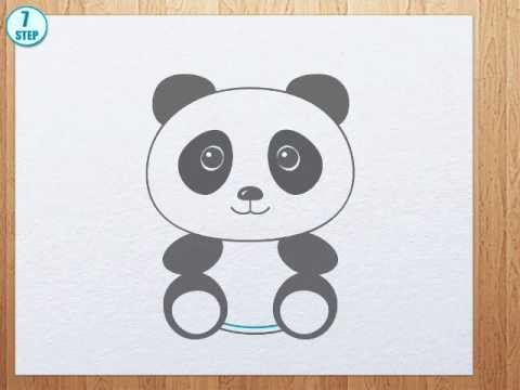 How To Draw A Panda Bear Youtube