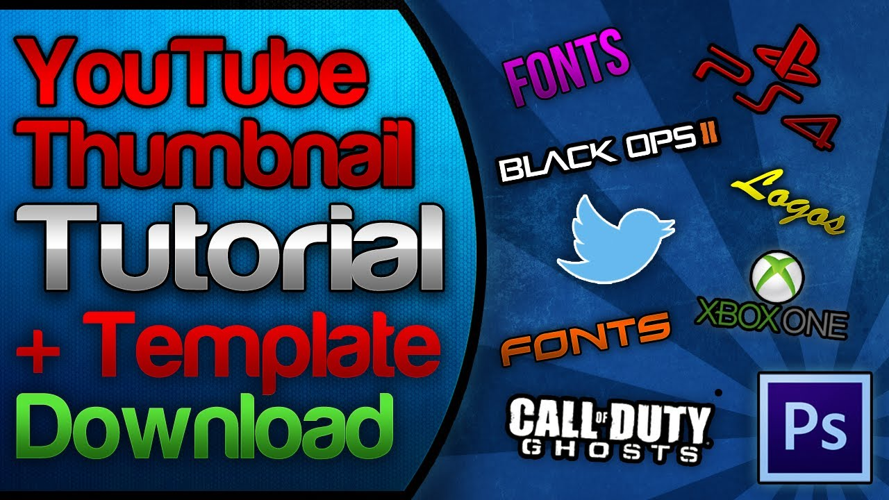 YouTube Custom Thumbnail Tutorial & FREE Template Download Pack + ...