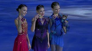 Российские фигуристки заняли весь пьедестал в финале Гран-при в Турине.