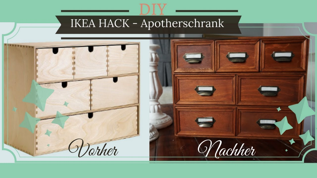 diy ikea hack moppe apothekerschr nkchen shabby. Black Bedroom Furniture Sets. Home Design Ideas