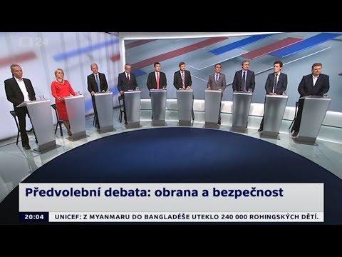 #1 Předvolební debata: Zástupci 10 stran o obraně, migraci a bezpečnosti (15.9.2017)