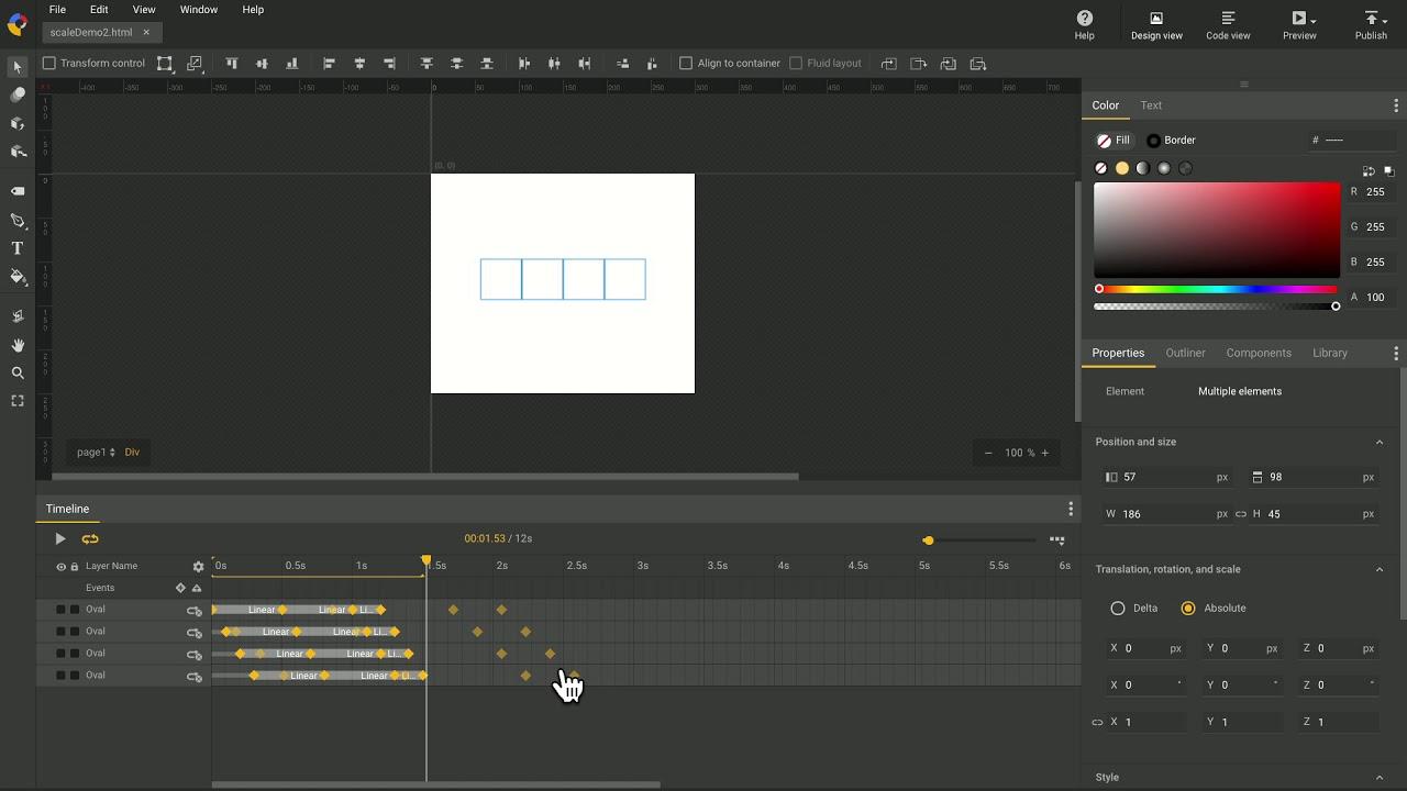 Timeline Keyframe Scaling Google Web Designer Youtube