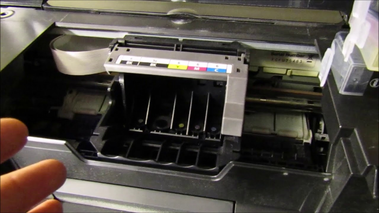 Canon Ip 5000 - Not Printing Black - How to clean Print-head DIY