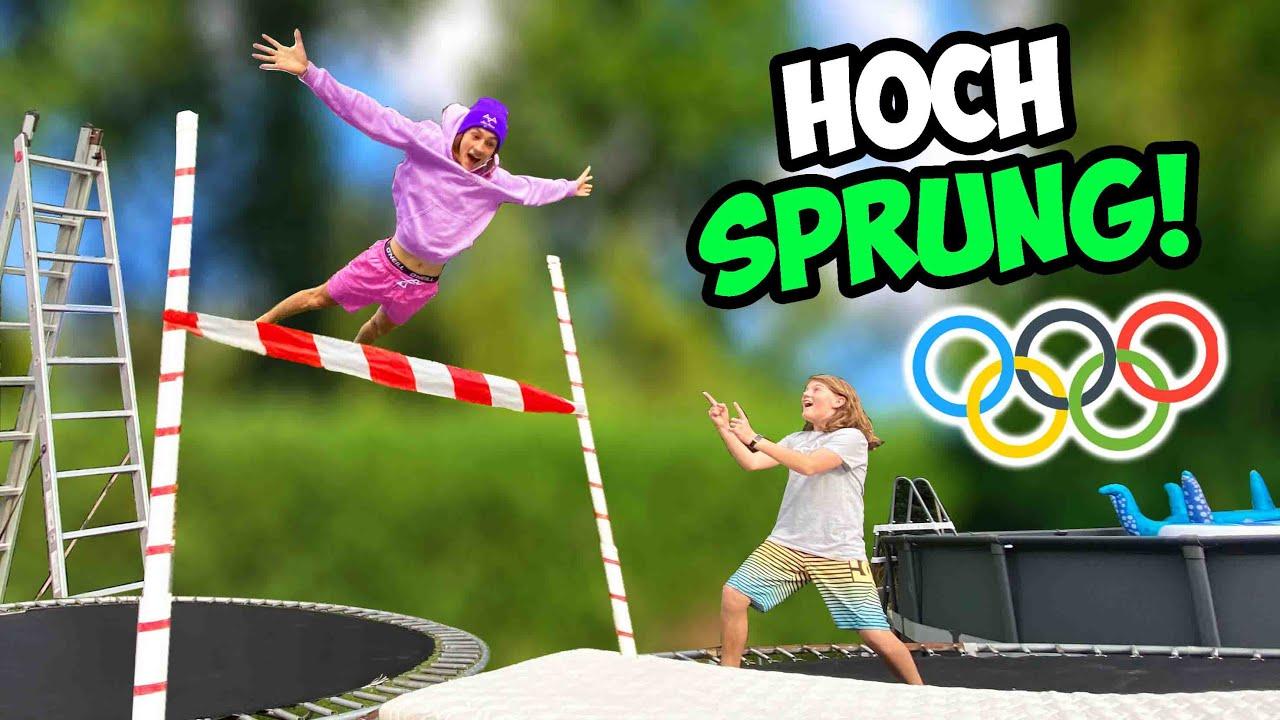 Extreme TRAMPOLIN HOCHSPRUNG Challenge! (mit RIESEN Airtrack!)