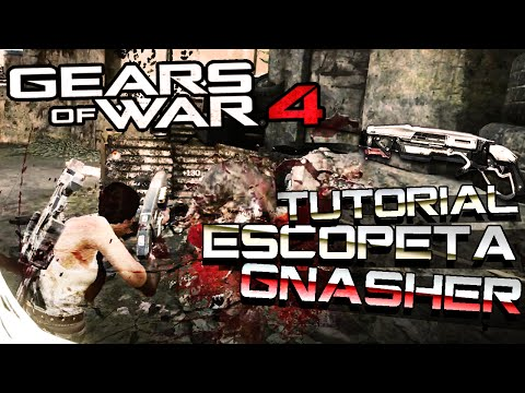 GEARS OF WAR 4 - TUTORIAL ESCOPETA GNASHER | TRUCOS AVANZADOS