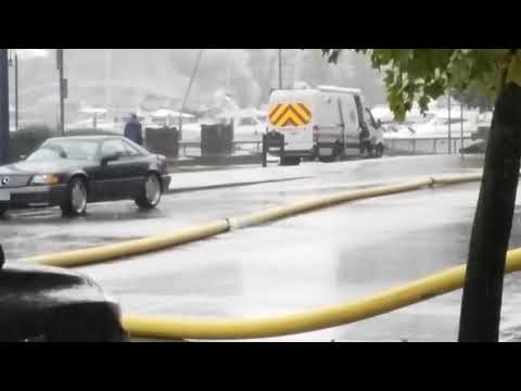 Yacht on fire in Vancouver BC