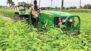 John Deere 5050 D tractor | John Deere Tractor  rotavator puddling - come to village