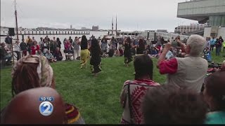 Hokulea gets warm welcome at chilly Boston Harbor