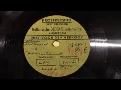 Willy Albert en Ans heidendaal: Droomland. (proefpersing) 1950.