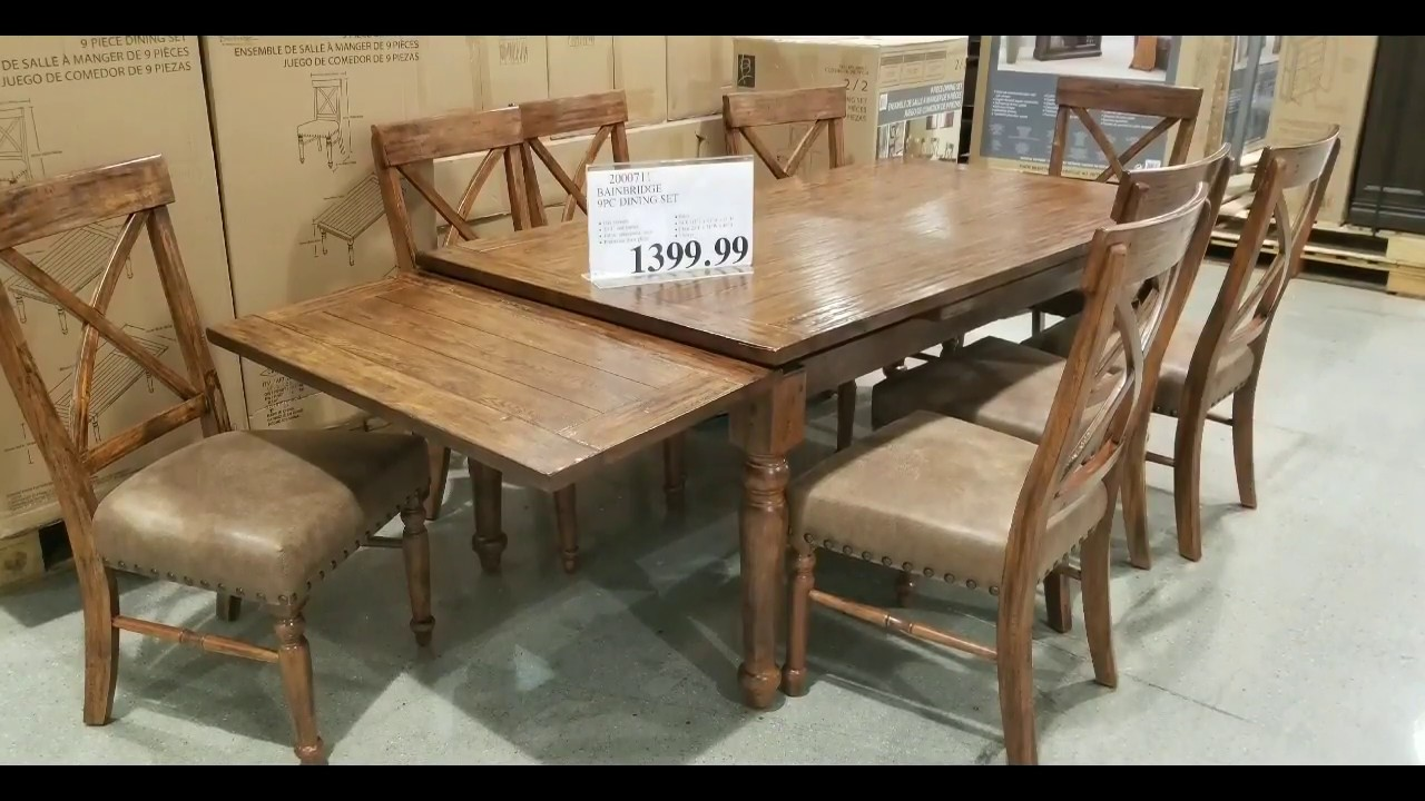 Costco Tables And Chairs Costco Bainbridge 9 Pc Dining Set W Extending Leafs 1 399