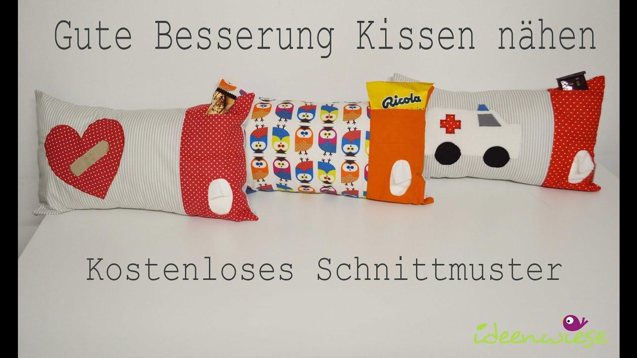 gute besserung kissen n hen mit schnittmuster youtube. Black Bedroom Furniture Sets. Home Design Ideas