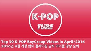 [Monthly K-Pop Chart] 남자 아이돌 영상 월간 조회 순위 (2016년 4월)