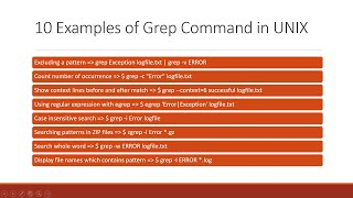10 most useful example of grep command in unix