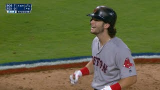 BOS@TEX: Benintendi collects five hits, makes amazing catch in epic day