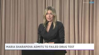 JUST IN  Maria Sharapova Admits To Failing Drug Test!