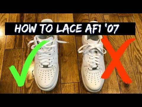 How to Lace Nike Air Force One's Loosely