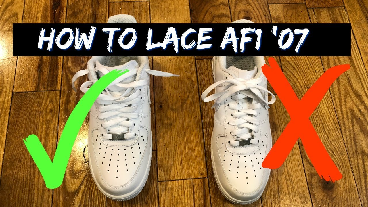 utilisation durable meilleur site avant-garde de l'époque How to Lace Nike Air Force One's Loosely