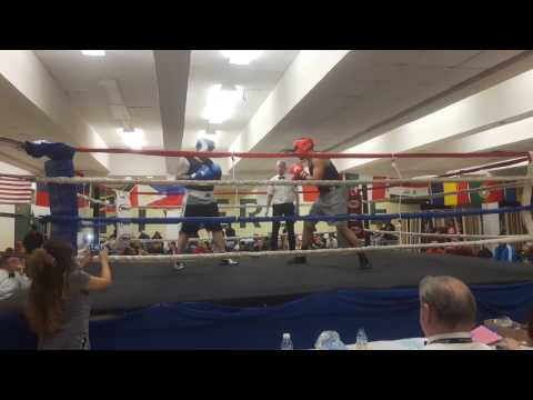 Amateur Boxing Heavy Weight bout in West Island Montreal , Nov 19th 2016