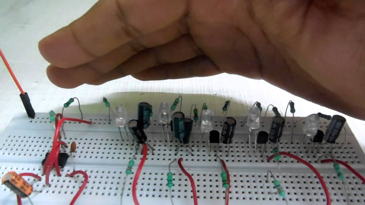 Led Meteor Rain Shower Circuit Using Transistors Three Flasher By 3 Transistor Astable Multivibrator