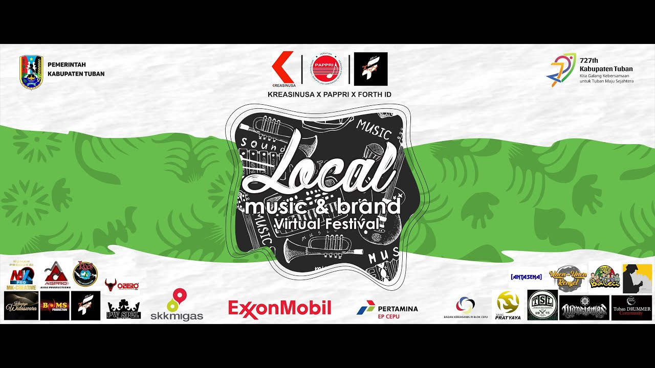 Local Music & Brand Virtual Festival Hari Jadi Ke-727 Kabupaten Tuban