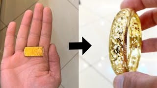 Using a Die to Make a 22k Gold Traditional Bangle   Gold Jewelry Making   How it's Made   4K Video