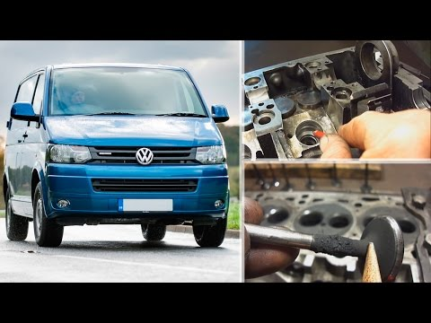 Volkswagen T5 AXE 2.5 – ремонт ГБЦ и тандемного насоса – (Repair on V.W. Cylinder Heads)