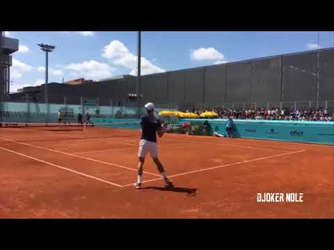 Novak Djokovic & Del Potro LIVE Practice - Madrid 2018 (HD)