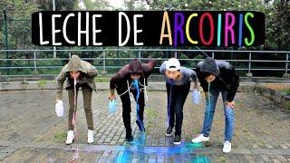 Milk Rainbow Challenge - Reto Leche de Arcoiris Ft. Kika Nieto SantiMaye | Alejo&Mafe