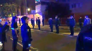 Homenaje en Logroño por el coronel jefe del Grupo de Acción Rápida (GAR), Jesús Gayoso Rey