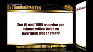 Gouden brein tip 3 - Snellezen: ontdek simpele snellees technieken