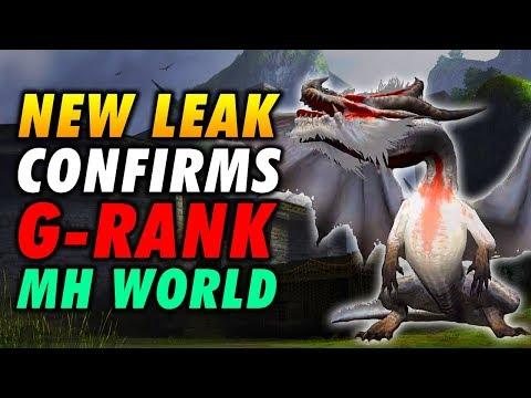 NEW LEAK CONFIRMS G-RANK For Monster Hunter World! MHW Leaks