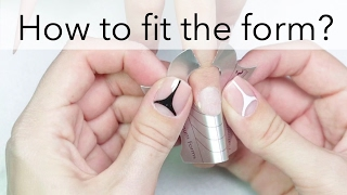 How to fit your nail form perfectly? | nailcou secrets