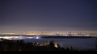 Time lapse: Vancouver sparkles from sunset to sunrise