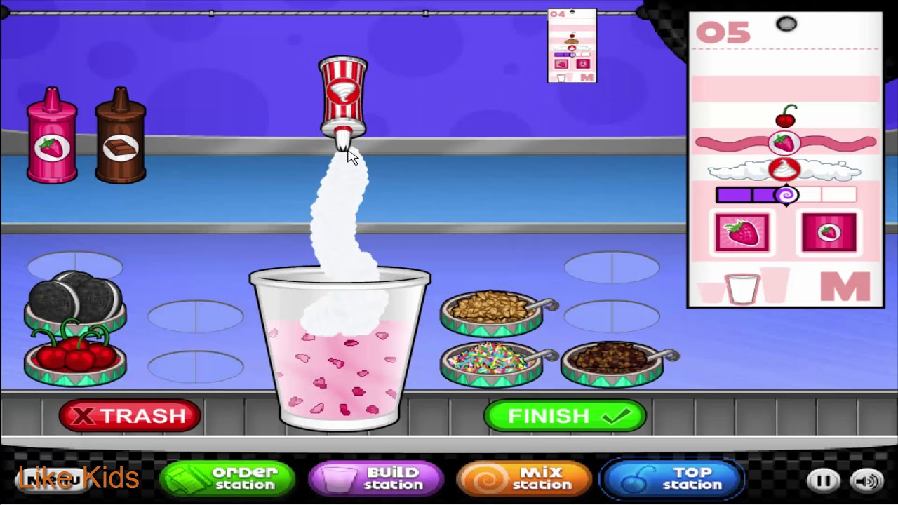 Papa's Freezeria - Cool Math Games