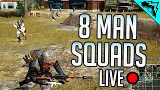8 MAN SQUADS - Player Unknown's Battlegrounds LIVE Open Lobby w/ StoneMountain64 thumbnail