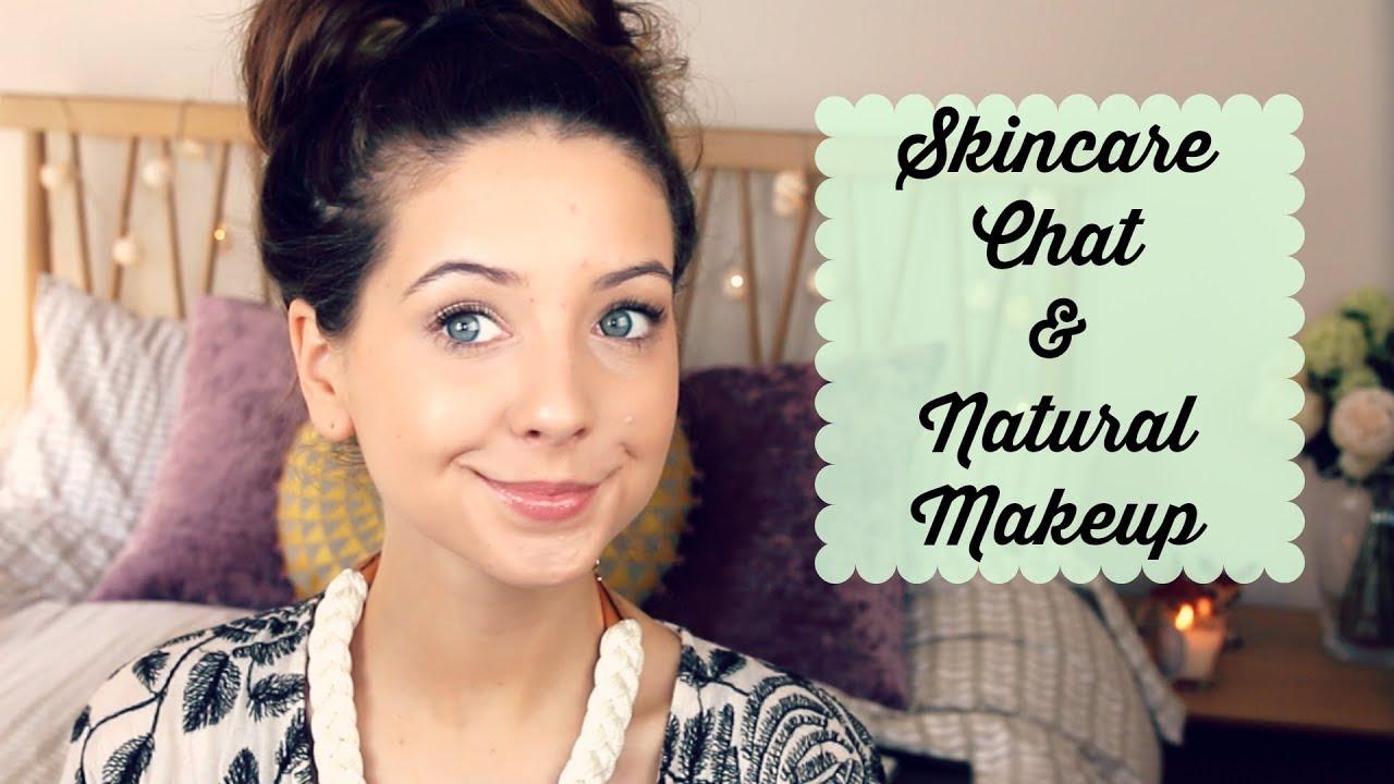 Skincare Chat & Natural Makeup Look | Zoella - YouTube